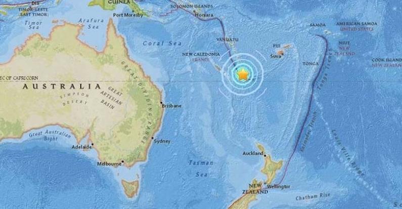 """Nueva Caledonia: Ordenan la """"evacuación inmediata"""" tras un terremoto que provoca alerta de tsunami"""