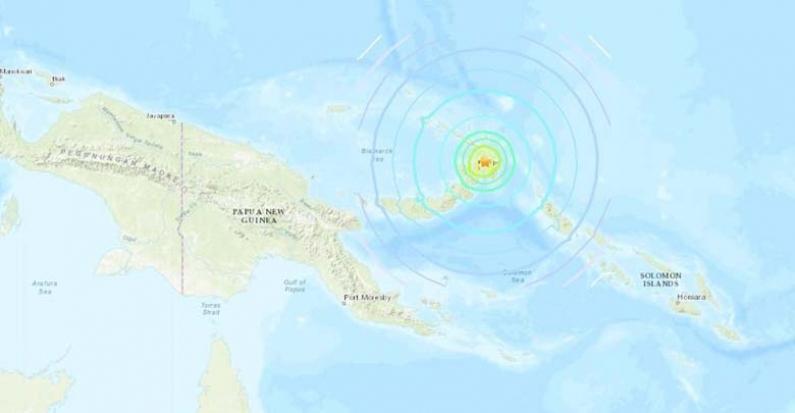 Un terremoto de magnitud 7,5 frente a Papúa Nueva Guinea activa una alerta de tsunami en el pacífico