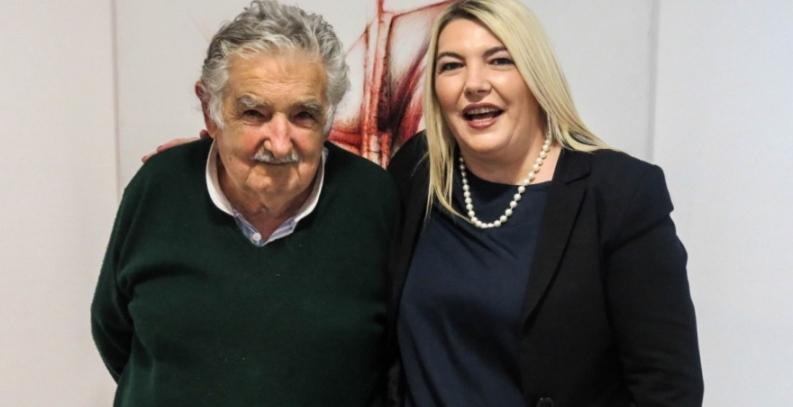 Buenos Aires: La gobernadora de Tierra del Fuego (Sin sonrojarse) se reunió con el ex tupamaro José Mujica