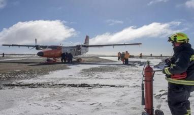 Antártida Argentina: Se accidentó un avión y los tripulantes fueron rescatados por militares chilenos