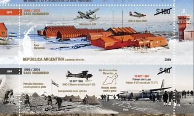Antártida Argentina: Lanzan una emisión postal por el cincuentenario de la fundación de la base Marambio