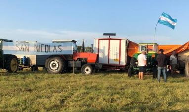 Auto convocados ya están en las inmediaciones de Expo agro