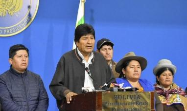 """Bolivia: """"El golpe de Estado se ha consumado"""" dijo el presidente Evo Morales"""