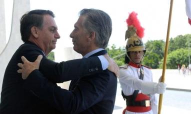 """Brasil: """"Apoyo los esfuerzos del presidente Macri para recuperar la economía argentina"""" dijo Bolsonaro"""