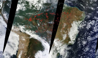 Brasil: La NASA publica imágenes satelitales que muestran cómo arde la Amazonía