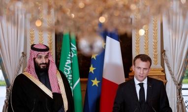 """Buenos Aires: Captan una charla """"secreta"""" entre el presidente de Francia y el príncipe heredero saudita en el G20"""