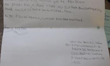Buenos Aires: La conmovedora carta de un nene a papá Noel por la crisis económica