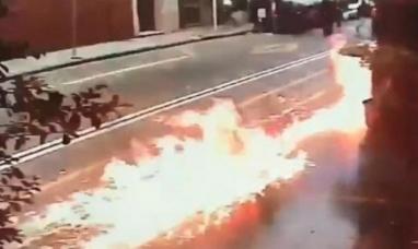 Buenos Aires: Un grupo de encapuchados lanzaron bombas incendiarias contra una sede de gendarmería