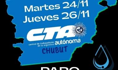Chubut: La CTA de los trabajadores lanzó un paro para hoy martes en defensa del agua