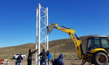 Chubut: Instalan antenas de telefonía celular en comunas rurales