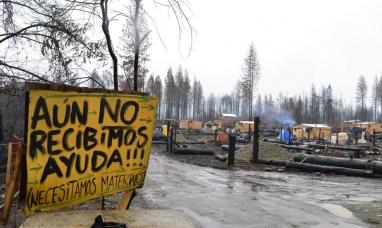Chubut: A seis meses del incendio, en Lago Puelo mendigan ante el gobierno nacional