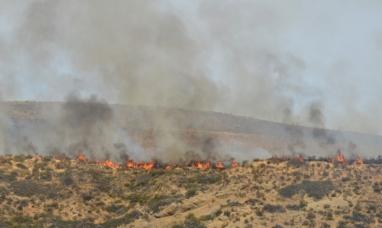 Chubut: Sigue el operativo para tratar de contener el incendio en Esquel