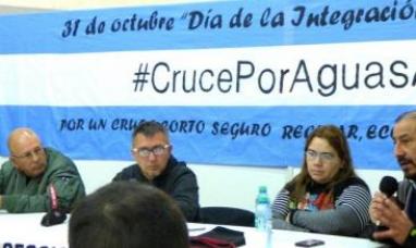 Se constituirá la mesa coordinadora para avanzar con el cruce por aguas argentinas
