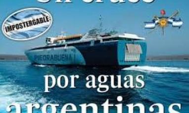 El cruce por aguas argentinas un año después del anuncio de la ex presidenta