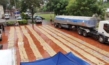 Formosa: Gendarmería incautó cuatro toneladas de marihuana que transportaban en un camión cisterna