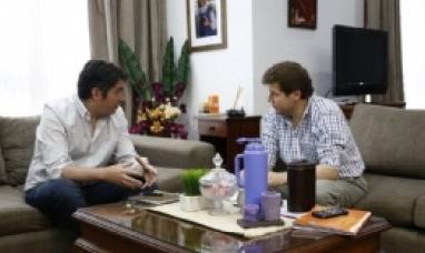 El intendente Gustavo Melella recibió al diputado Martín Pérez