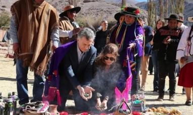 """Jujuy: Macri pidió a la """"Pachamama"""" paz, armonía y trabajo para todos"""""""