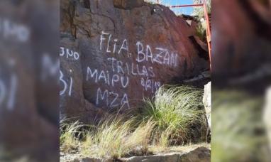 Mendoza: La familia que pintó grafitti pidió perdón y se comprometió a borrarlo