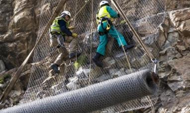 Neuquén: Comenzaron las tareas para proteger la ladera en la ruta nacional N° 40