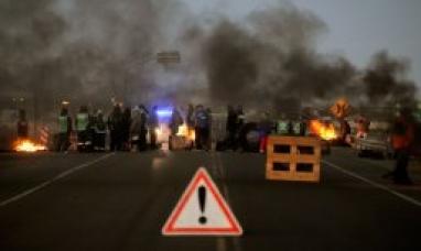 El tránsito a Tierra del Fuego está cortado por una protesta en Santa Cruz