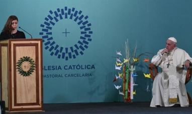 El Papa visitó una cárcel de mujeres en Santiago de Chile
