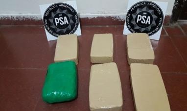 La PSA incautó más de seis kilos de cocaína en Jujuy