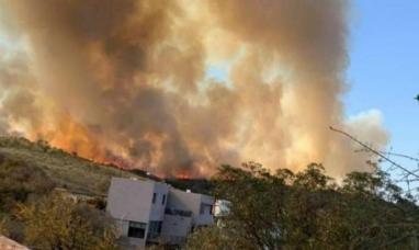 Córdoba: Está descontrolado el incendio en Salsacate