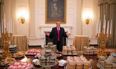 EE.UU.: El rey de las hamburguesas, por el shutdown, Trump pidió comida rápida para una cena oficial