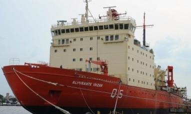 El rompehielos almirante Irízar dejó el CINAR para navegar en aguas profundas