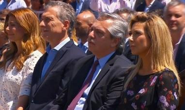 """Saliente y entrante presidentes participaron de una misa """"por la unidad"""" en la basílica de Luján"""