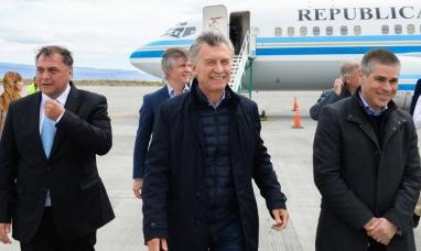 Santa cruz: Macri estuvo en la provincia por primera vez desde que es presidente