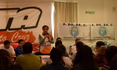 Santa Cruz: Plenario de trabajadores decidió jornada de lucha para el miércoles 16