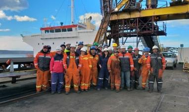 """Santa Cruz: Zarpó el buque """"Fortune Bay"""" con carbón de YCRT"""