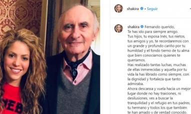 """Shakira despidió a Fernando de la Rúa: """"Seré siempre tu amiga, a pesar de cualquier cosa"""""""