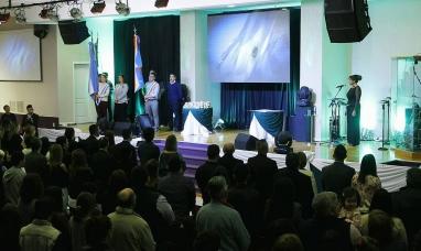 Tierra del Fuego: Acto de colación de la universidad siglo 21