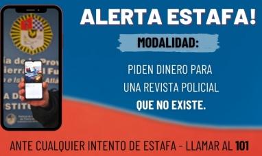 Tierra del Fuego: Advierten que se trata de una estafa el pedido de dinero para colaborar con una revista policial