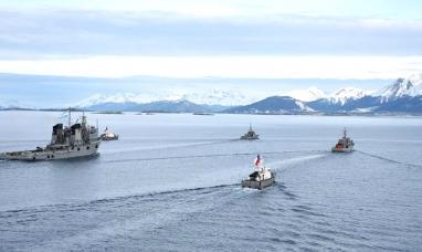 Tierra del Fuego: Argentina y Chile finalizaron los ejercicios de emergencia en el canal Beagle