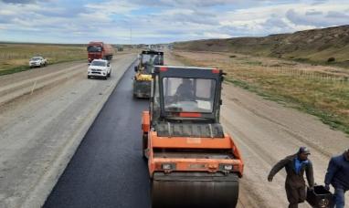 Tierra del Fuego: Avanza la pavimentación del acceso a paso fronterizo San Sebastián