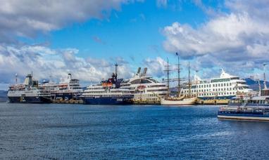 Tierra del Fuego: A bordo de varios cruceros, más de 21 mil turistas visitaron Ushuaia durante la primera quincena de enero