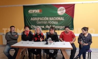 Tierra del Fuego: De campaña en la provincia, el candidato a secretario general de ATE nacional dio una conferencia de prensa en el SUTEF