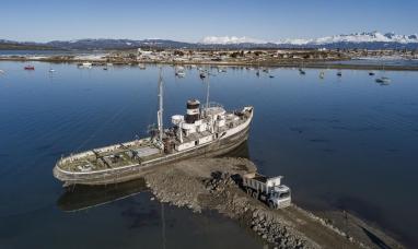 """Tierra del Fuego: Comenzaron las obras para la puesta en valor del barco """"Saint Christopher"""""""