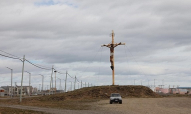 Tierra del Fuego: El Cristo de ingreso a Río Grande será restaurado en el museo municipal