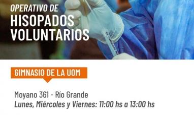 Tierra del Fuego: Desde el ministerio de salud informan cambios en el cronograma de testeos voluntarios en Río Grande