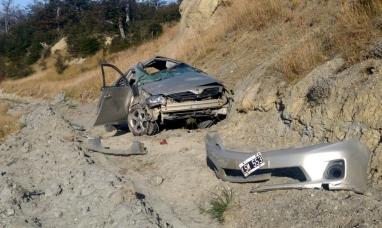 Tierra del Fuego: Dos mujeres resultaron lesionadas en violento vuelco