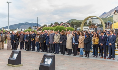 Tierra del Fuego: La embajada de Rusia rindió homenaje a ex combatientes y recordó su apoyo ante Naciones Unidas