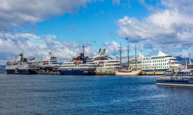 Tierra del Fuego: Final de temporada 2017-18, última recalada de cruceros en el puerto de Ushuaia