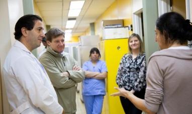 Tierra del Fuego: El gobernador recorrió el hospital de Ushuaia para interiorizarse sobre obras realizadas
