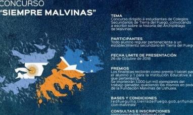 """Tierra del Fuego: Gobierno y fundación Malvinas lanzaron el concurso """"Siempre Malvinas"""""""