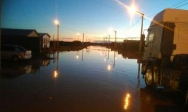 Tierra del Fuego: Río Grande bajo agua por las lluvias del fin de semana