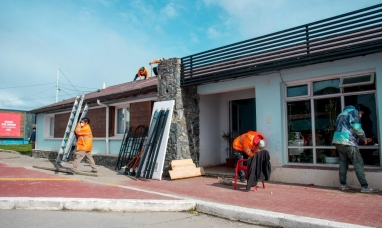 Tierra del Fuego: Intenso trabajo para finalizar obra en el albergue municipal
